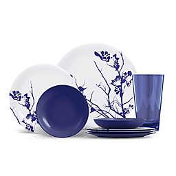 ThermoServ Dogwood Floral 16-Piece Melamine Dinnerware Set