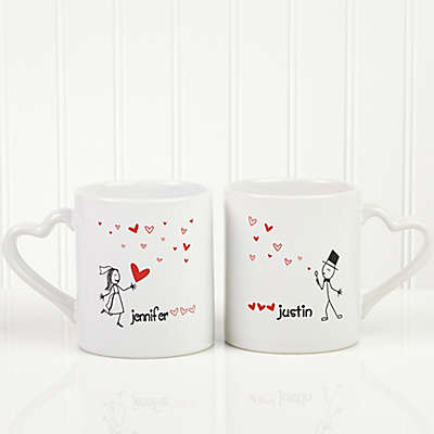 Blown Away By Love Wedding 2-Piece Mug Set