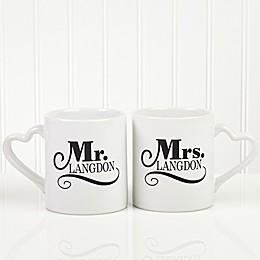 The Happy Couple Personalized Mug Set of 2