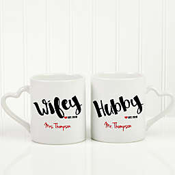 Wife & Hubby 2-Piece Mug Set