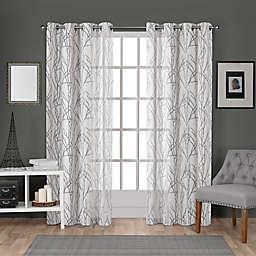 Edinburgh Grommet Top Window Curtain Panels (Set of 2)