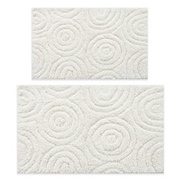 "Perthshire 17"" x 24"" and 24"" x 40"" Circles Bath Rug (Set of 2)"