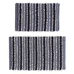 """Castle Hill London 21"""" x 34"""" and 24"""" x 40"""" Chunky Chenille Bath Rugs (Set of 2)"""