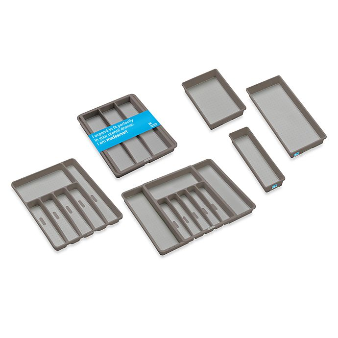 Alternate image 1 for madesmart Drawer Organizers in Grey