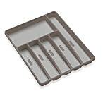 madesmart Six Compartment Cutlery Tray in Grey
