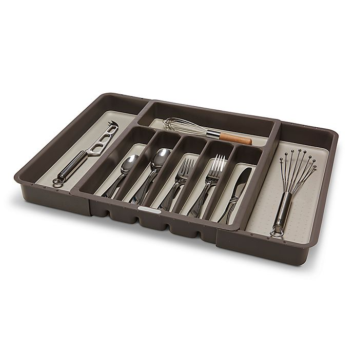 Alternate image 1 for madesmart Expandable Cutlery Tray in Grey