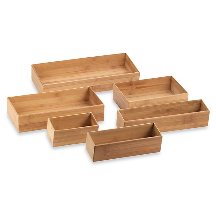 Alternate image 1 for Totally Bamboo Drawer Organizer