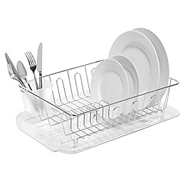 SALT™ Large Dish Drainer in Silver