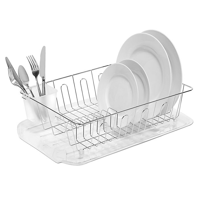 Salt Large Dish Drainer In Silver Bed Bath Beyond
