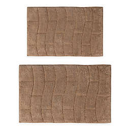 "Castle Hill New Tile 2-Piece 21"" x 34"" and 24"" x 40"" Bath Mat Set in Natural"