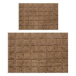 "Castlehill Summer Tile 2-Piece 21"" x 34"" and 24"" x 40"" Bath Rug Set in Stone"