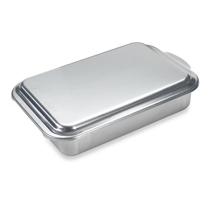 Alternate image 1 for Nordic Ware® Aluminum 9-Inch x 13-Inch Cake Pan with Metal Lid