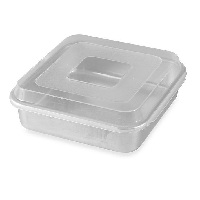 Nordic Ware 174 9 Inch Square Aluminum Cake Pan With Lid