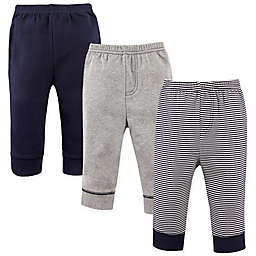 Luvable Friends® 3-Pack Stripe Tapered Pants in Navy