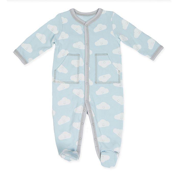 Alternate image 1 for Sterling Baby Cloud Footie in Blue