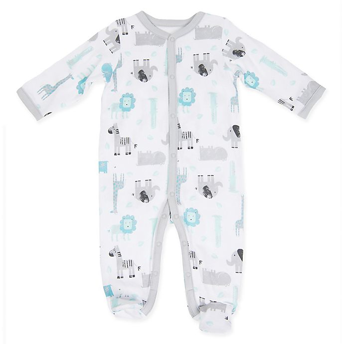Alternate image 1 for Sterling Baby Jungle Friends Footie in White