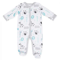 Sterling Baby Jungle Friends Footie in White
