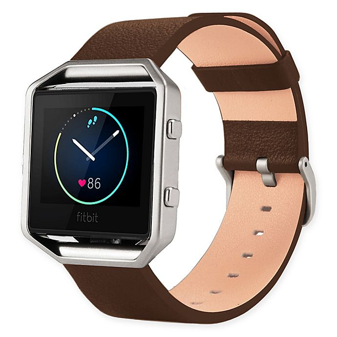 Alternate image 1 for Leather Band for Fitbit Blaze™ with Frame
