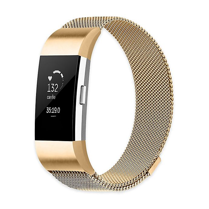 2d81f982f68e Stainless Steel Milanese Loop Band for Fitbit Charge 2