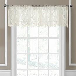 Elrene Montego Sheer Beaded Window Valance