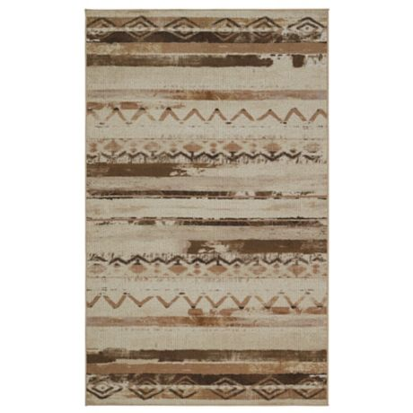 Mohawk Home African Patchwork Area Rug In Neutral Beige