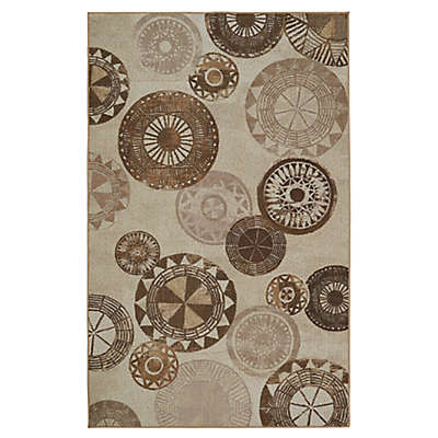 Mohawk Home Barkley Medallion Area Rug in Neutral Beige