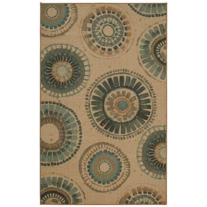 Alternate image 1 for Mohawk Home® Indigold Medallion Area Rug in Turquoise