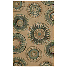 Mohawk Home® Indigold Medallion Area Rug in Turquoise
