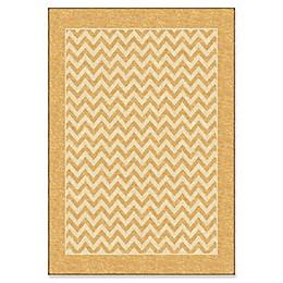 Orian Sunny Day Stripe Area Rug in Gold