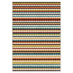 Orian Rugs Veranda Connect the Dots Gemstone 6'5 x 9'8 Multicolor Area Rug