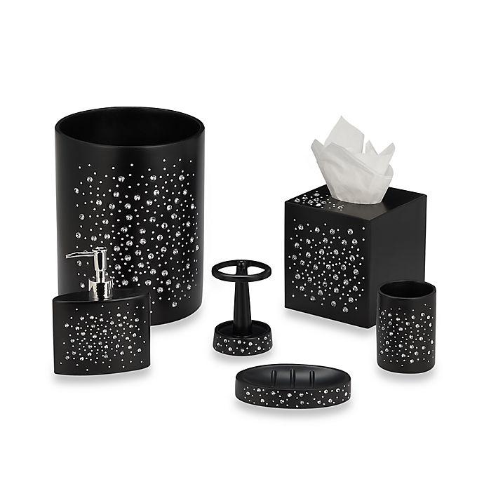 diamond black bath ensemble   bed bath & beyond