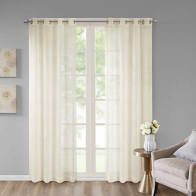 Madison Park Haze Grommet Top Window Curtain Panel Bed