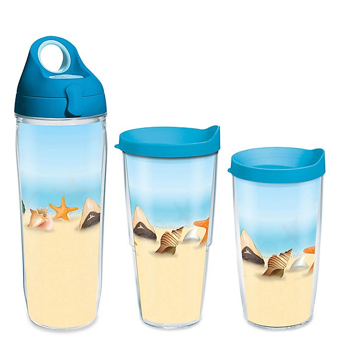 Alternate image 1 for Tervis® Shells on the Beach Wrap Drinkware with Lid