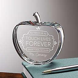 Teaching Touches Lives Crystal Apple Keepsake