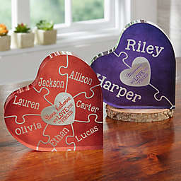 We Love You To Pieces Colored Heart Puzzle Keepsake