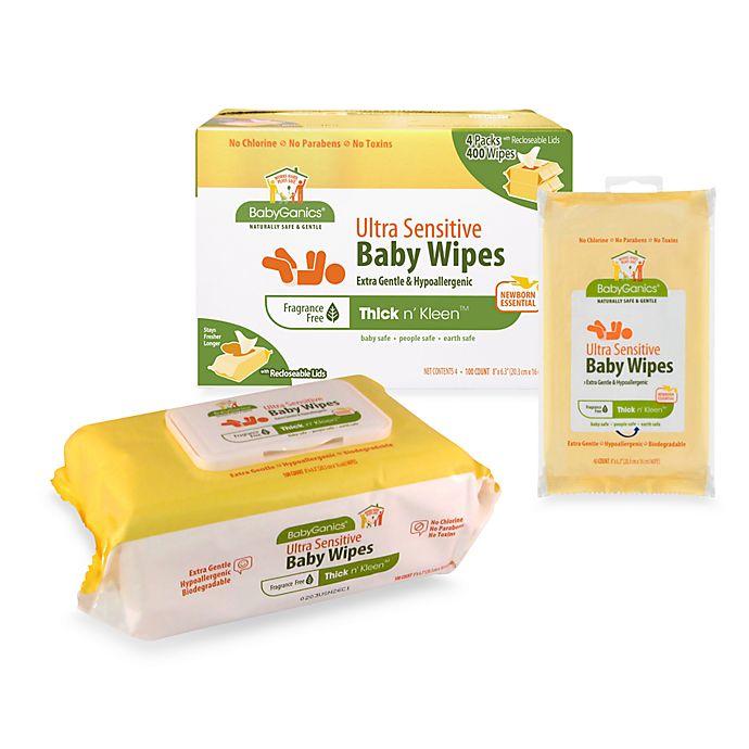 Alternate image 1 for BabyGanics® Thick n' Kleen™ Ultra Sensitive Baby Wipes