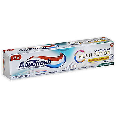 Aquafresh® 5.6 oz. Multi-Action Whitening Fluoride Toothpaste in Invigorating Mint