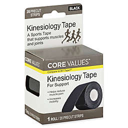 Core Values™ 20-Count Kinesiology Tape Pre-Cut Strips for Support