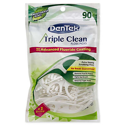 DenTek® 90-Count Extra-Strong Triple Clean Floss Picks in Mouthwash Blast