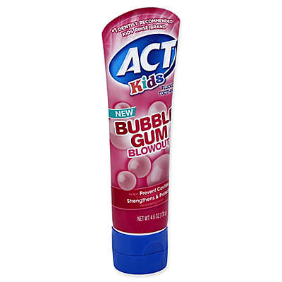 ACT® 4.6 oz. Kids Fluoride Toothpaste in Bubblegum Blowout®