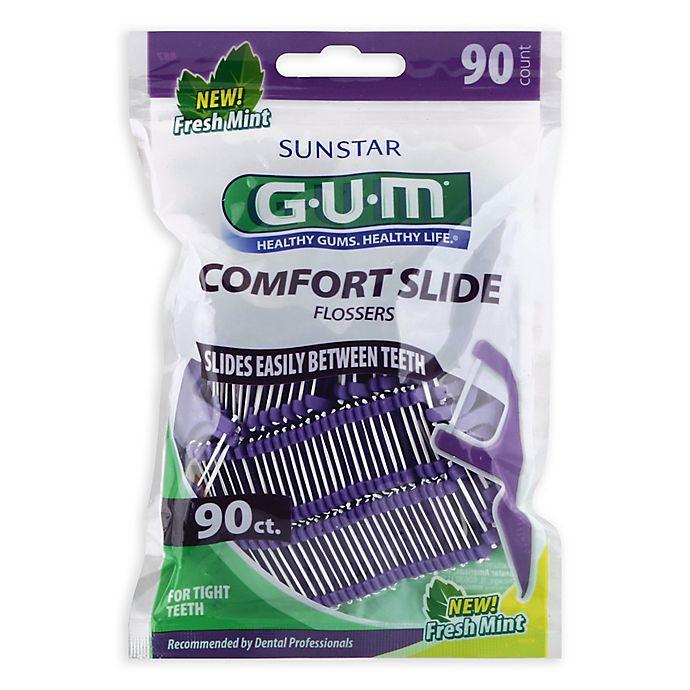 Alternate image 1 for GUM® 90-Count Comfort Slide Flossers in Fresh Mint