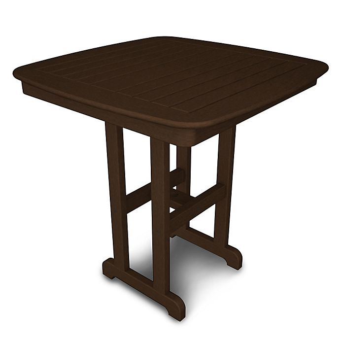 Alternate image 1 for POLYWOOD® Nautical 37-Inch Square Counter Table in Mahogany