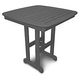 POLYWOOD® Nautical 37-Inch Square Counter Table in Slate Grey