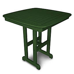 POLYWOOD® Nautical 37-Inch Square Counter Table in Green