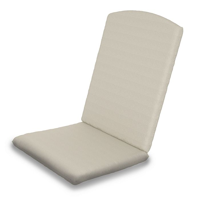 Alternate image 1 for POLYWOOD® Outdoor Nautical Highback Chair Full Cushion in Sunbrella® Beige