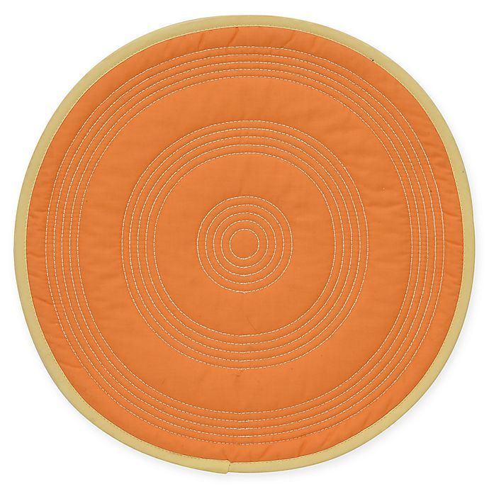 Alternate image 1 for Fiesta® Quilted Round Placemat in Sunflower
