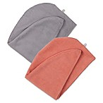 Martex Easy Living 2-Pack Hair Wrap Towels in Light Grey