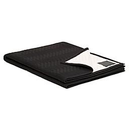 Calvin Klein Modern Cotton Keith Throw Blanket in Black/Pink