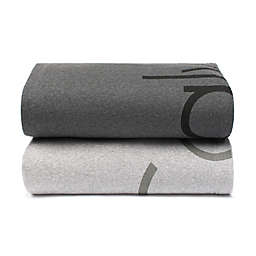 Calvin Klein Modern Cotton Cropped Logo Throw Blanket