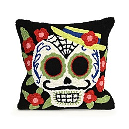 Liora Manne Frontporch Mr. Muerto Square Indoor/Outdoor Throw Pillow
